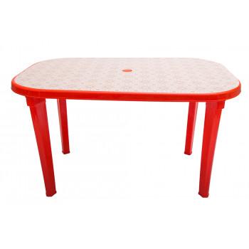 Стол пластиковый овальный с рисунком